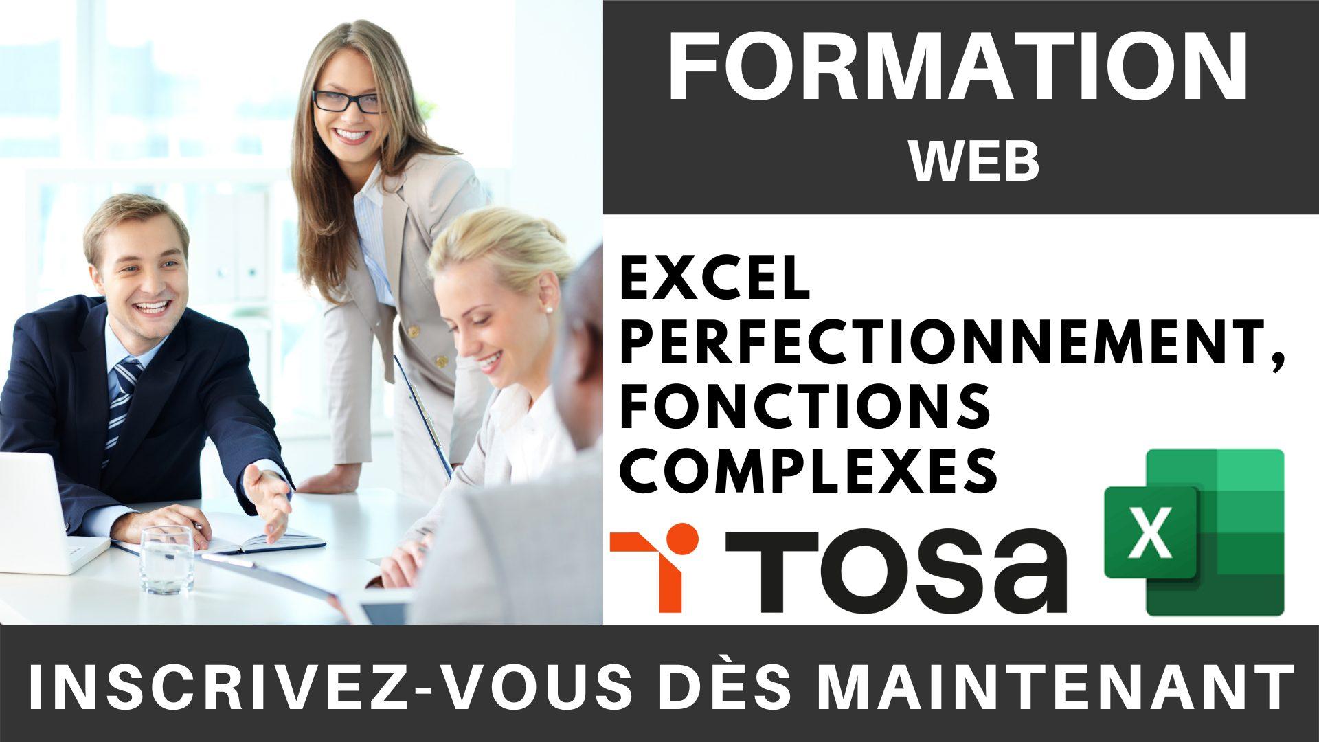 Formation web - Excel Perfectionnement, Fonctions complexes