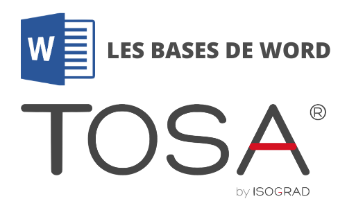 Formation Word Les bases Préparation TOSA