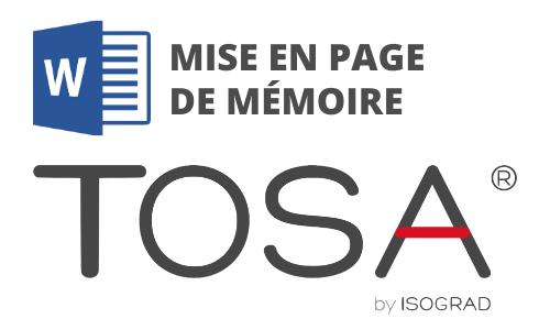 Formation Word Mise en page de mémoire Préparation TOSA